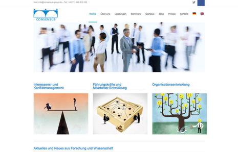 Webseite von Consensus-Group.de