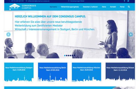 Webseite von CONSENSUS-Campus.de
