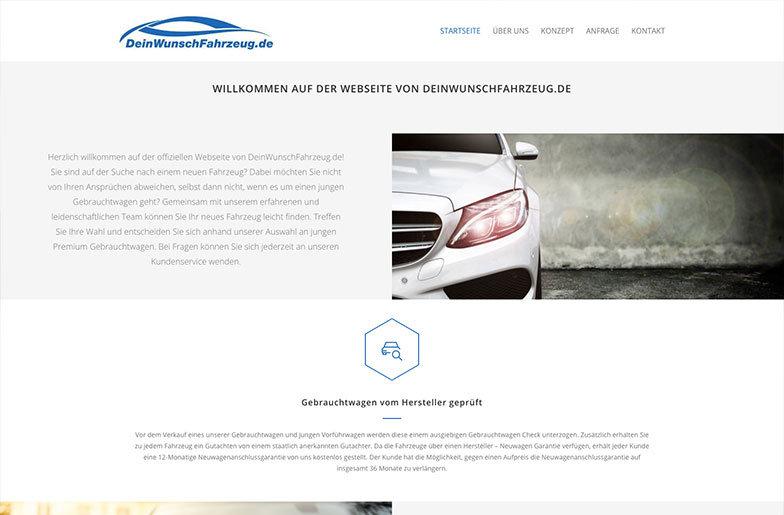 DeinWunschFahrzeug.de Homepage