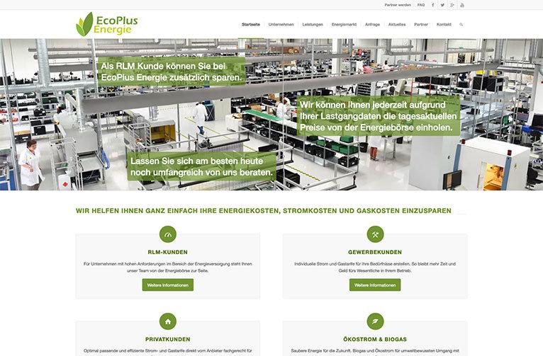 EcoPlus Energie Webseite Esslingen